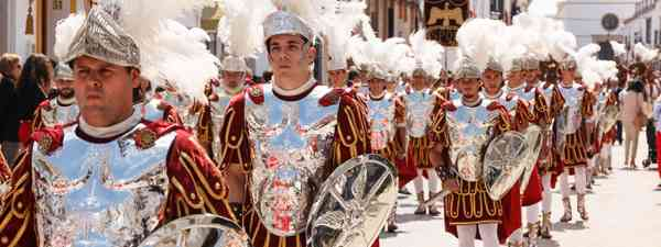 A procession reenacting a Roman Army on Holy Friday in Seville, Spain (Shutterstock)