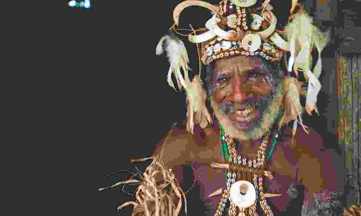 A man dressed for the Crocodile Festival in East Sepik Province (PNGTPA)
