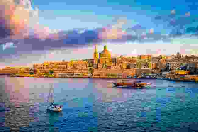 Sunrise view of St. Paul's Cathedral, Valletta, Malta (Dreamstime)