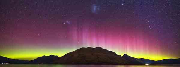 Aurora Australis over Lake Wakatipu, New Zealand (Shutterstock)