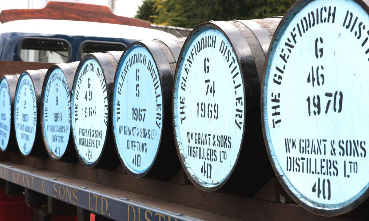 Barrels at the Glenfiddich distillery (Dreamstime)