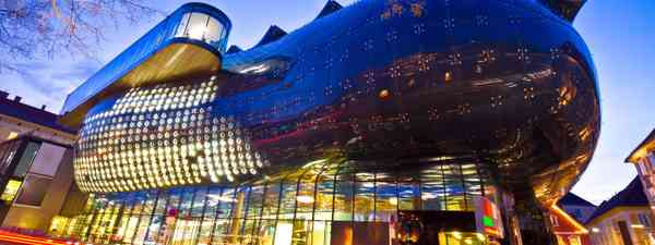 Kunsthaus Graz at night (Dreamstime)