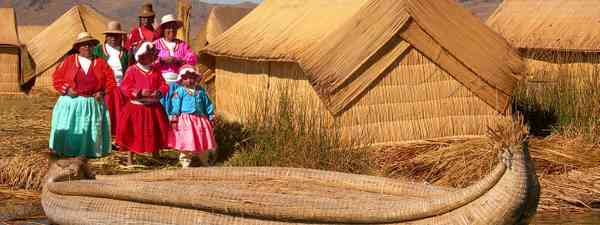 Uros Reed island on Lake Titicaca (Dreamstime)
