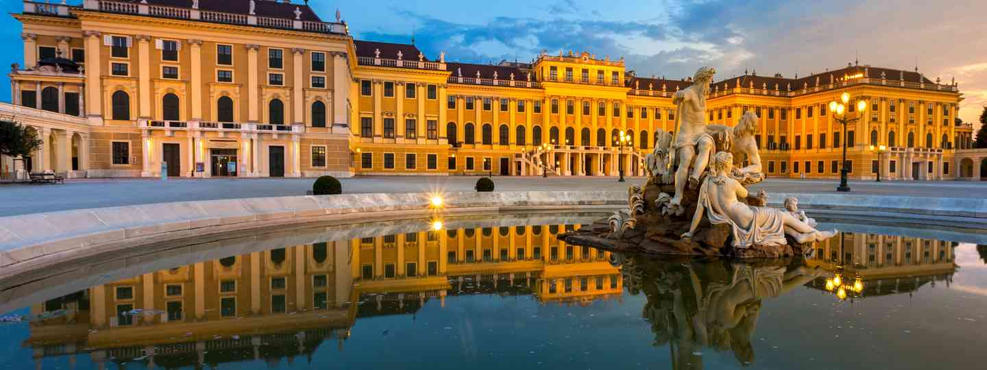 Schonbrunn Palace  at dusk (Vienna)