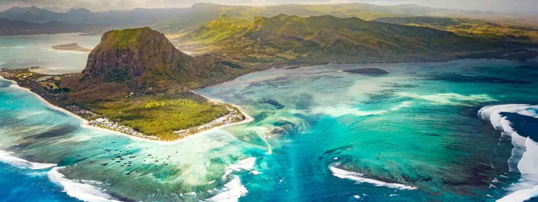 Aerial view of the underwater waterfall (Dreamstime)