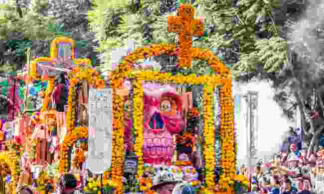 Day of the Dead parade in Mexico (Dreamstime)