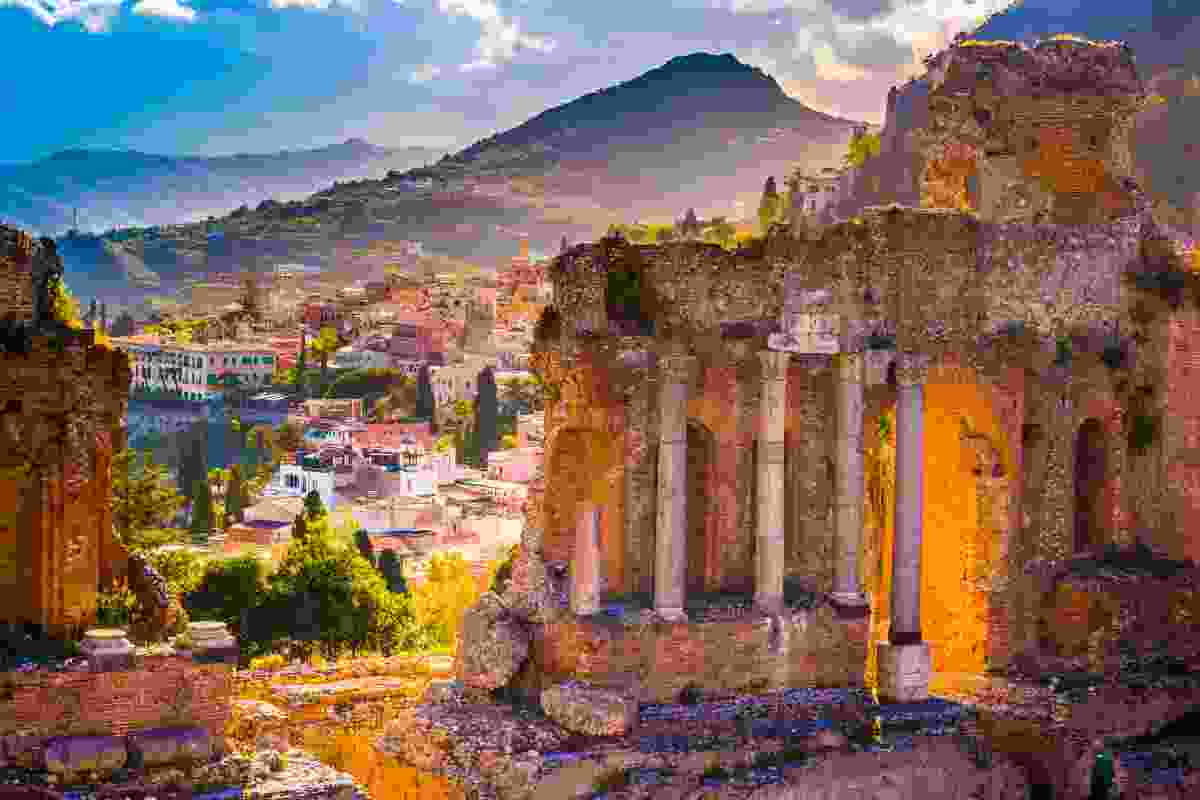 The view from the ancient Greek theatre, Taormina (Dreamstime)
