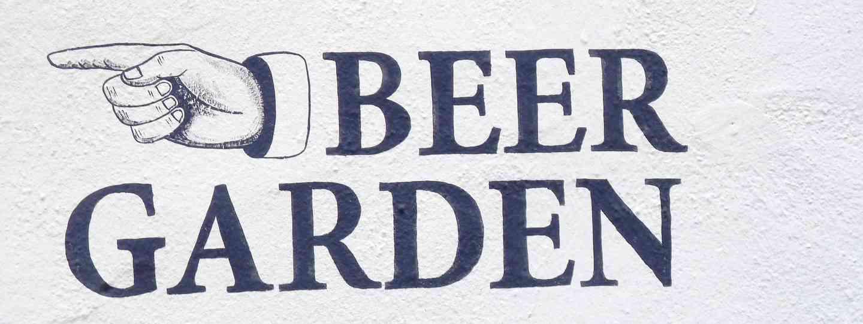 Beer garden sign (Dreamstime)