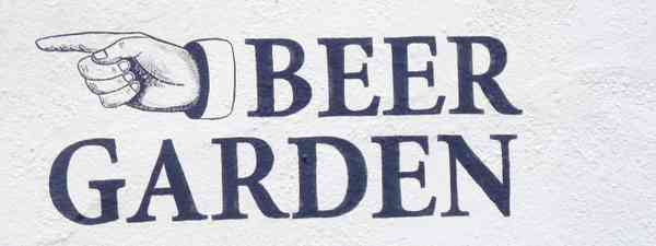 Beer garden sign (Dreamstime)