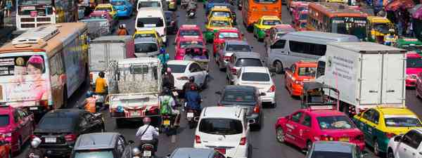 A busy road in Bangkok, Thailand (Dreamstime)