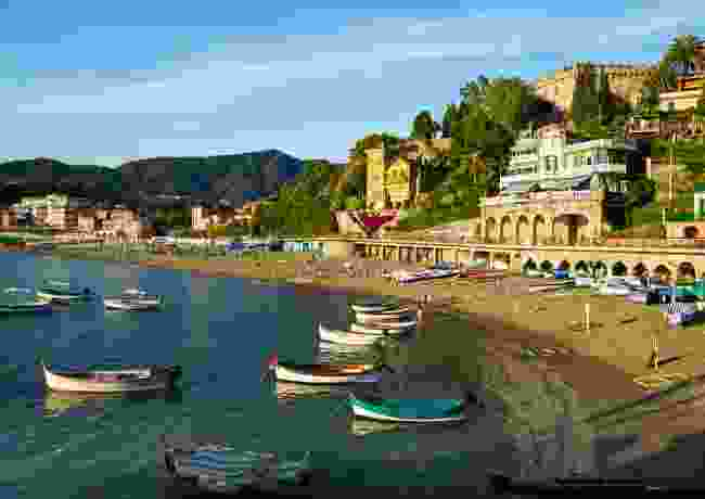 The beach at Levanto, Italy (Dreamstime)