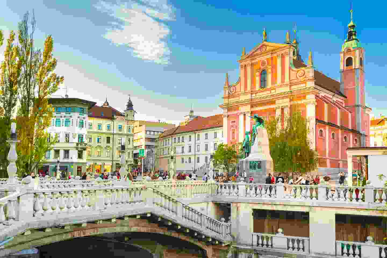Prešeren Square in Ljubljana, deemed a gold Slovenian Green Destination  (Shutterstock)
