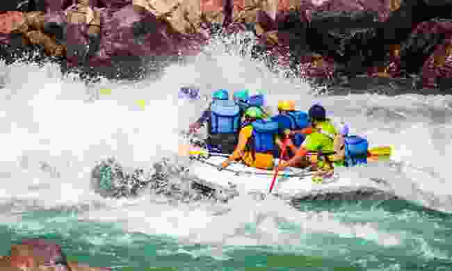 Rafting on the Ganges in Rishikesh (Shutterstock)