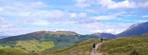 Hikers on Ben Nevis, Scotland (Shutterstock)