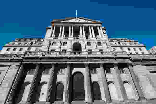 The Bank of England (BOE) The United Kingdom's central bank in the City Of London (Shutterstock)