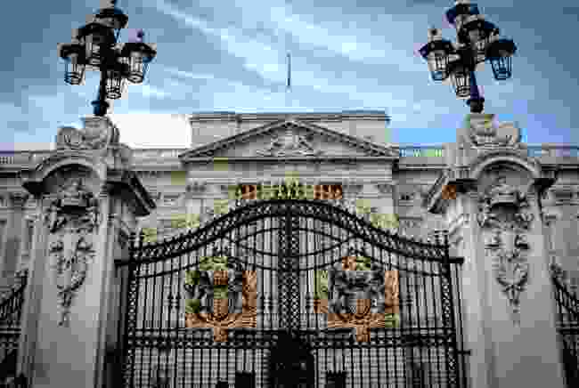 Buckingham Palace exterior, Green Park, London (Shutterstock)