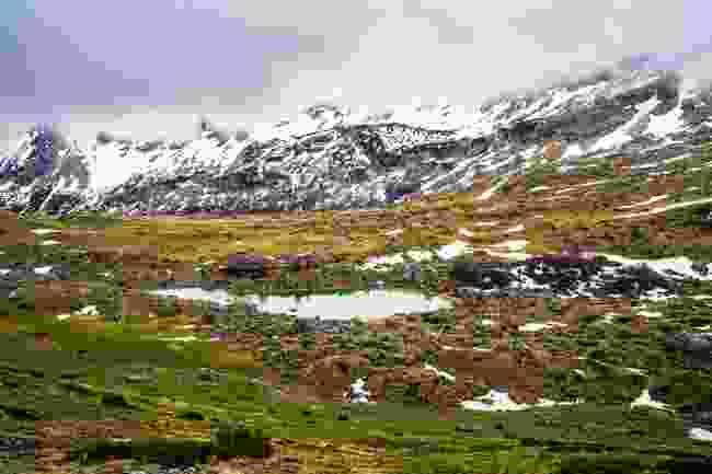 Snowy remains in Durmitor National Park, Montenegro (Shutterstock)