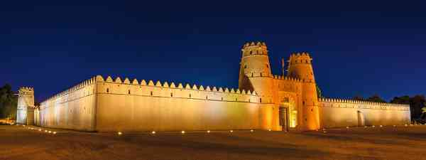 The imposing walls and towers of Al Jahili Fort (Shutterstock)