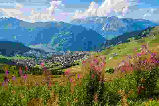 Verbier in summer, Switzerland