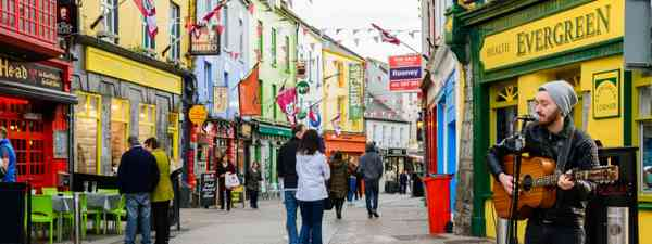 Galway's vibrant streets will have you singing a tune in no time (Shutterstock)