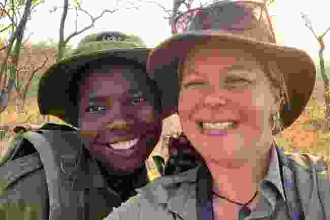 An Akashinga ranger with Holly Budge (How Many Elephants)