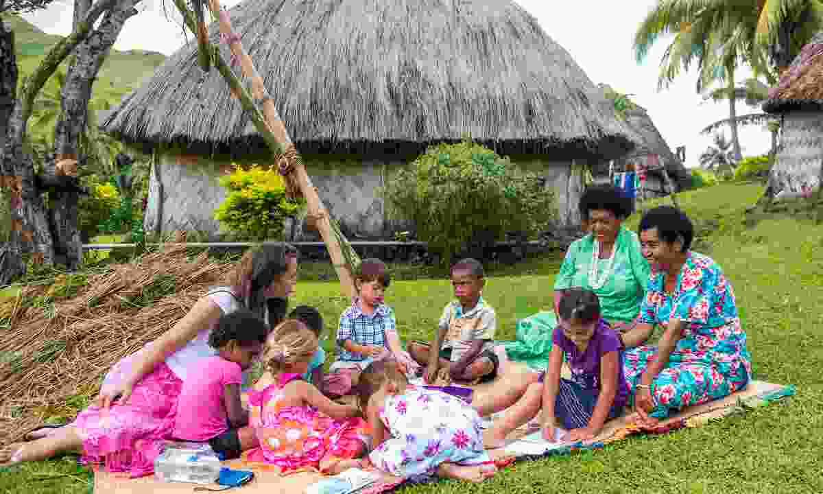 Volunteer in Fiji's village communities (Mark Snyder)
