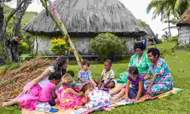 Volunteer in Fiji's village communities (Mark Snyder)