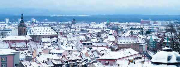 Wintry rooftops in Bamberg, Germany (Dreamstime)