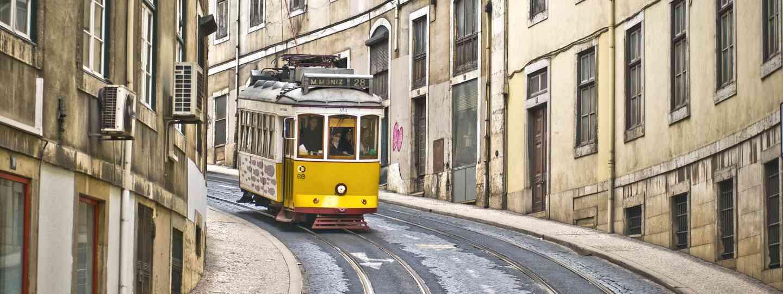 A famous Lisbon tram (Dreamstime)