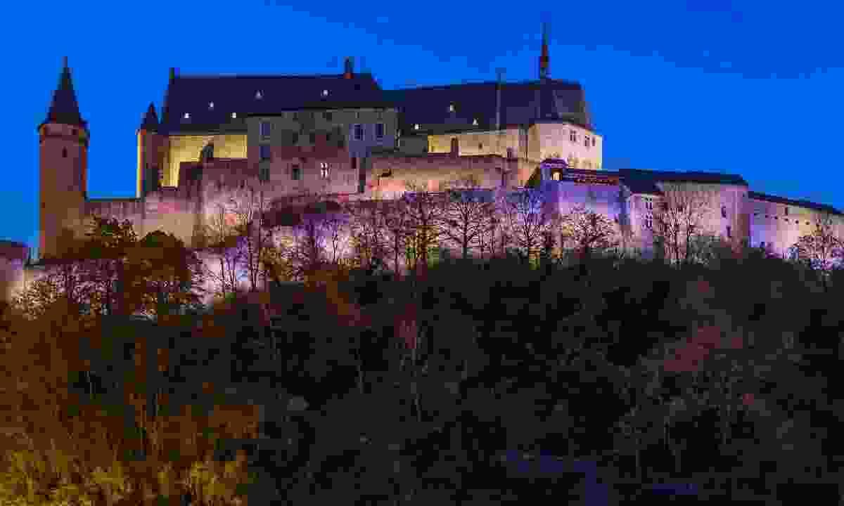 Vianden castle at night (Dreamstime)