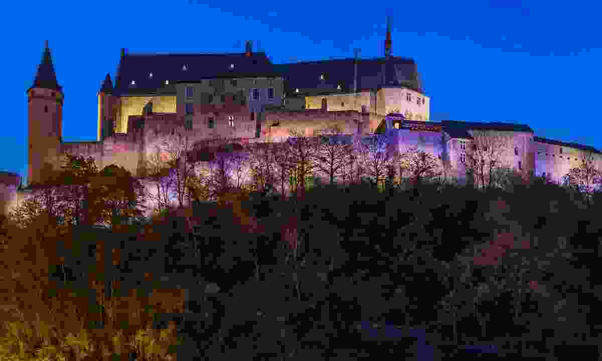 Vianden castle at night (Dreamstime)