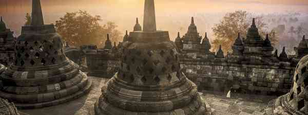 The bells of Borobudor (Dreamstine)