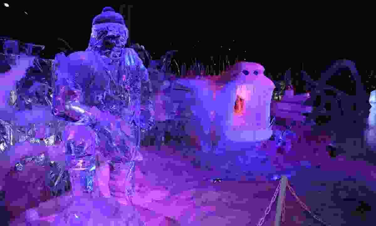 An ice sculpture at Belgium's Snow and Ice Sculpture Festival (Dreamstime)
