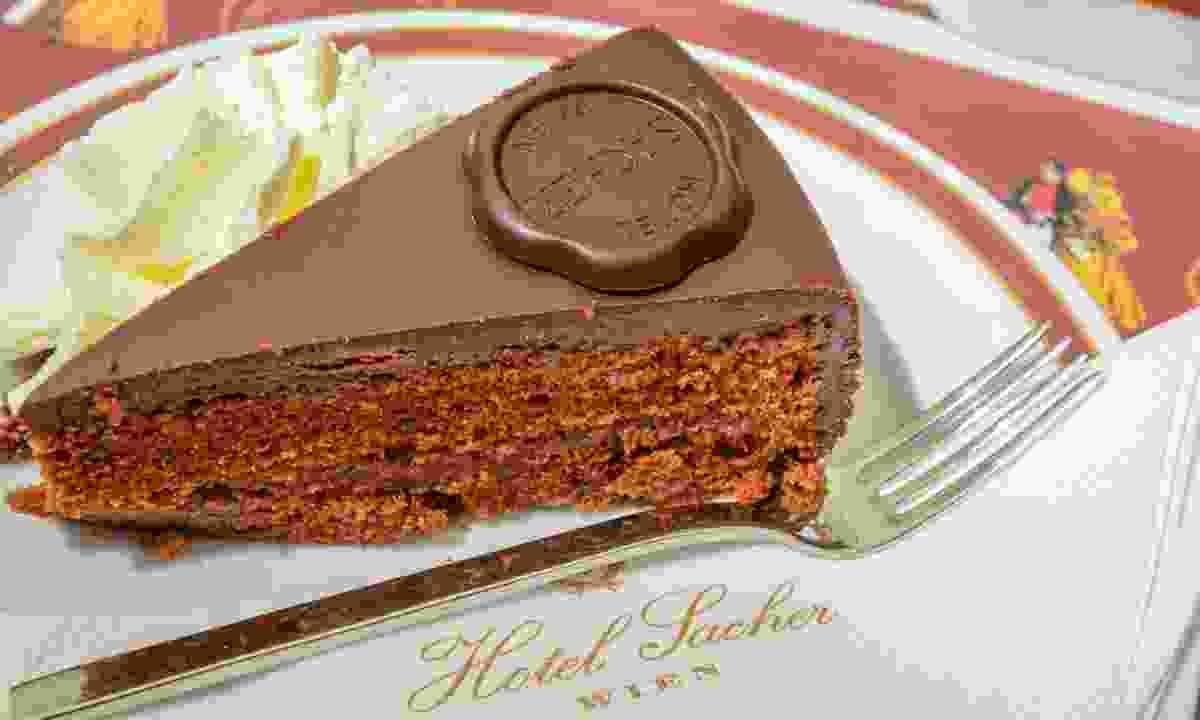Original Sacher Torte at Sacher Cafe (Dreamstime)