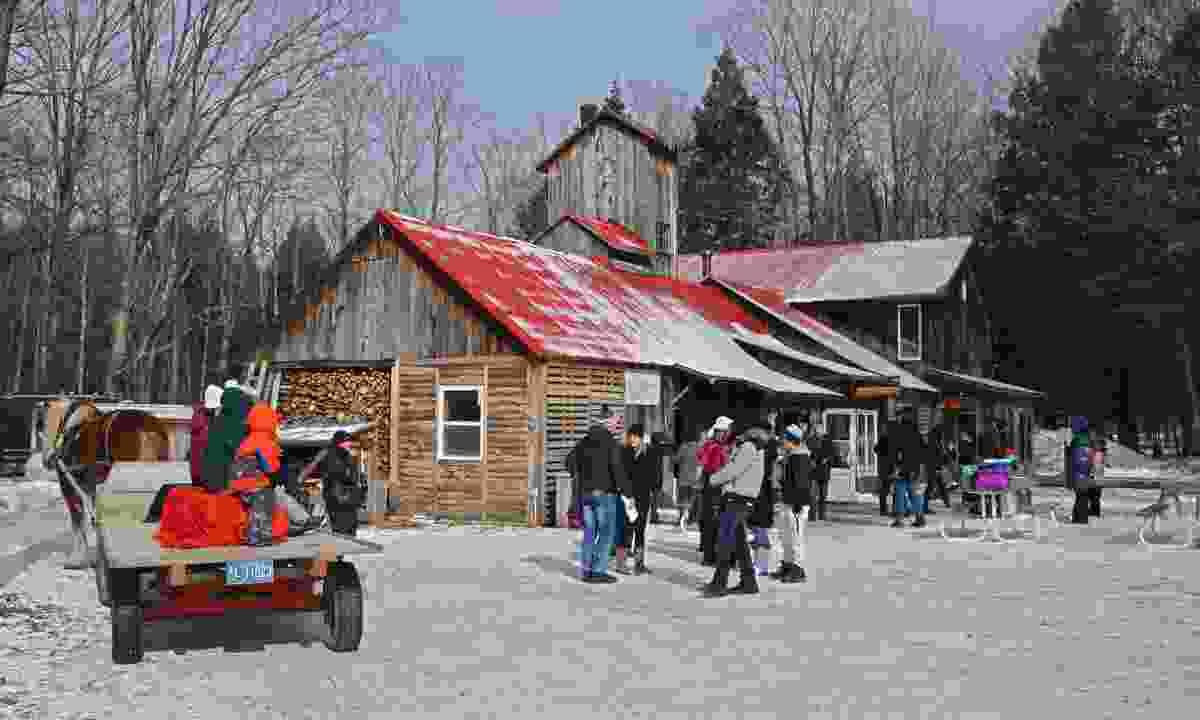 A sugar shack in Valcourt, Quebec (Dreamstime)