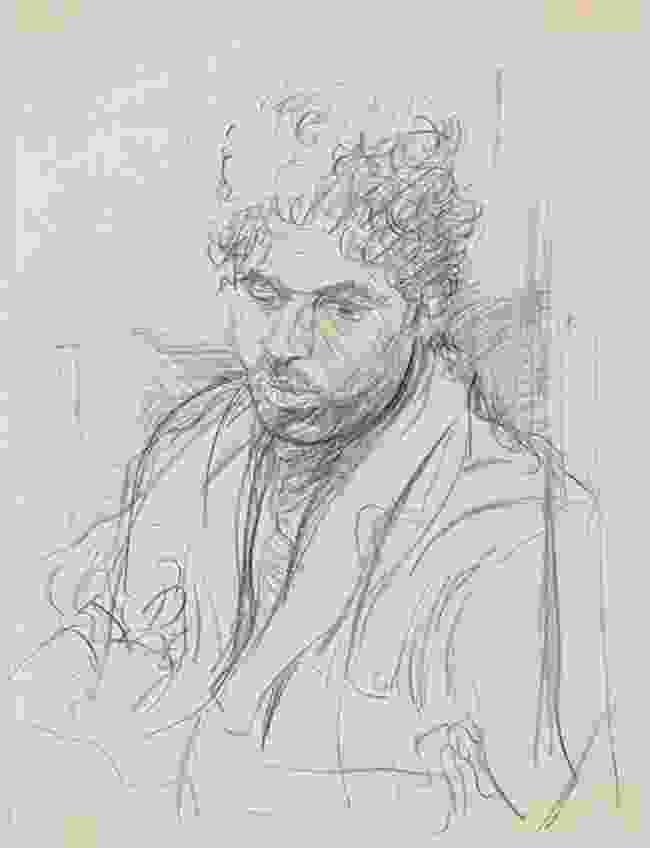 Young man in Lahore, drawn in pencil (Martin Yeoman)
