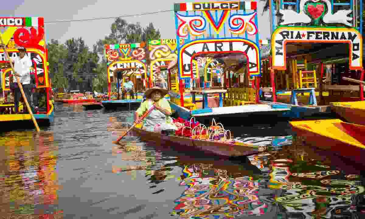 Colourful trajineras boats in Xochimilco (Shutterstock)