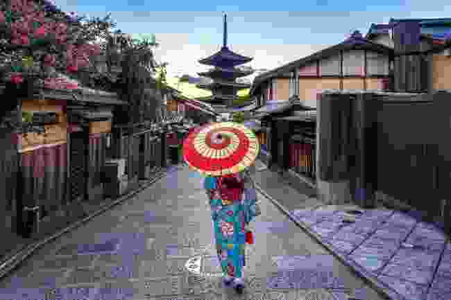 A geisha walking through the Higashiyama district (Shutterstock)