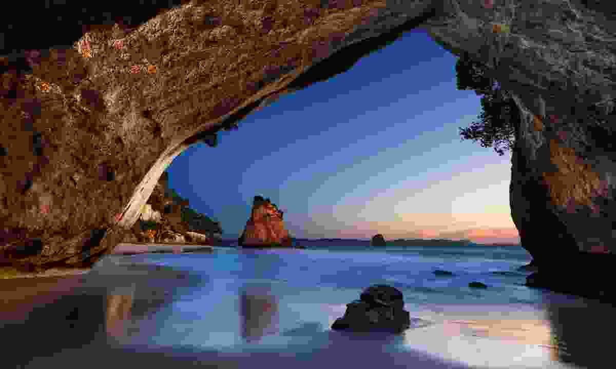 Cathedral Cove on the Coromandel Peninsula at sunrise (Shutterstock)