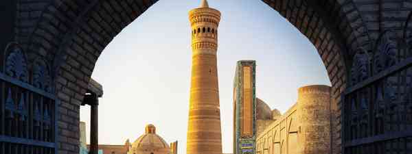 The Poi Kalyan oriental complex at sunset, Bukhara (Shutterstock)