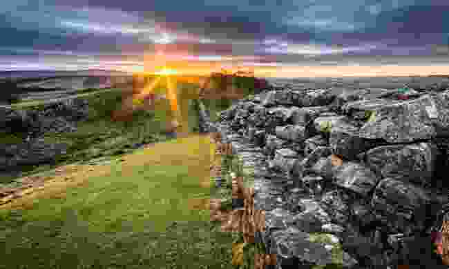 Hadrian's Wall as the sun sets (Shutterstock)