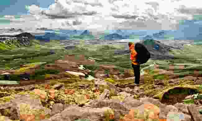 Hiking through Laugavegur (Shutterstock)