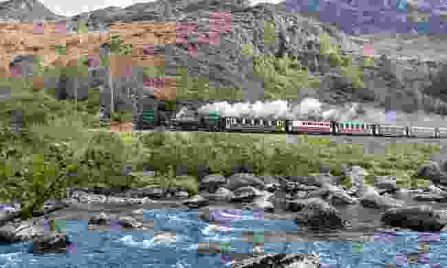 Welsh Highland Railway in Snowdonia National Park (Dreamstime)