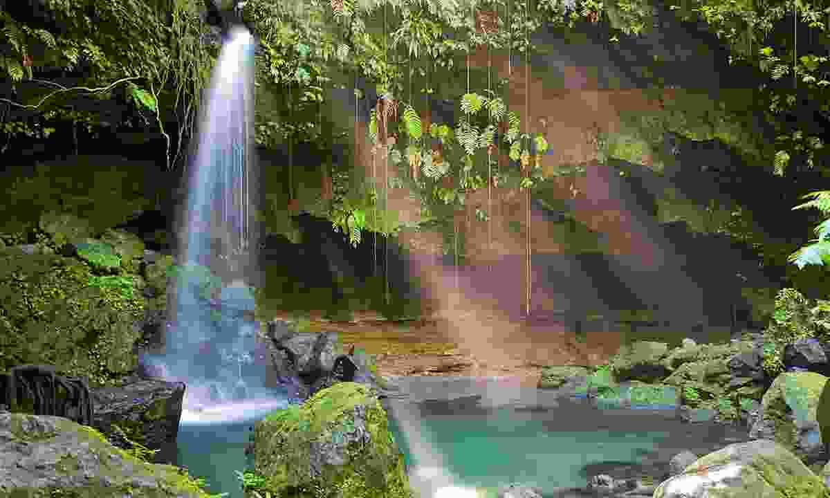 The crystal-clear Emerald Pool