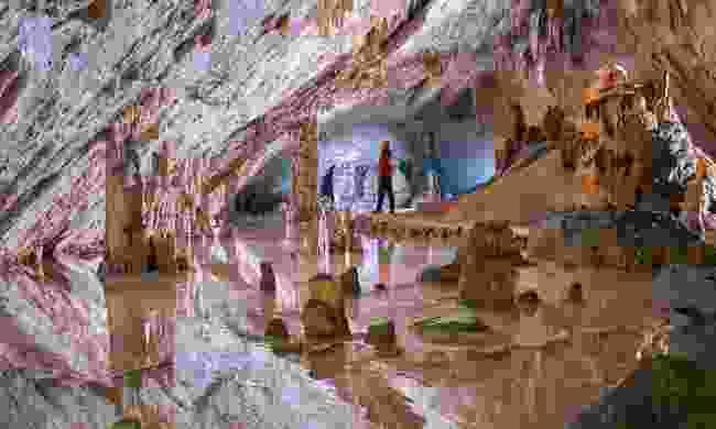 Explore the depths of Otoška Cave, part of Postojna Cave (Slovenian Tourist Board)