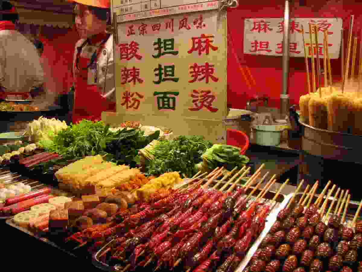 Beijing food market (Dreamstime)
