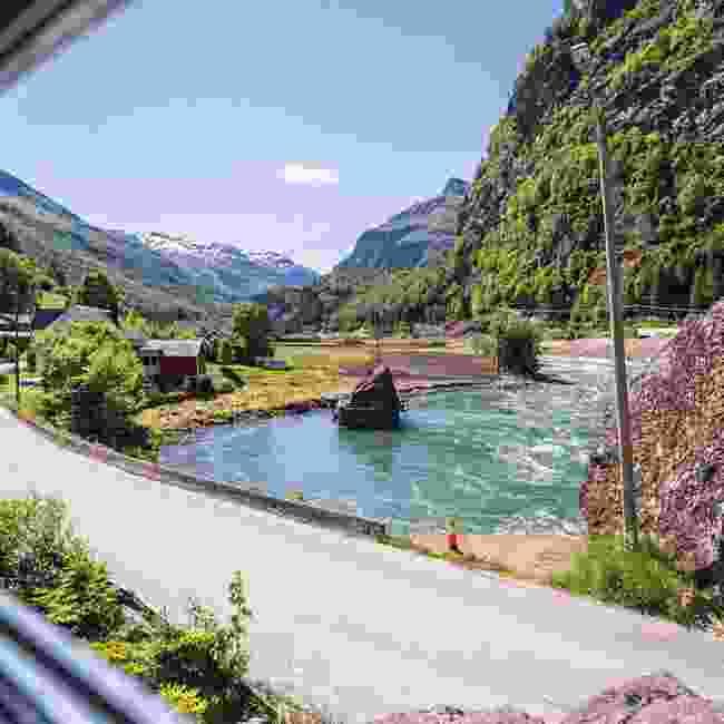 The Norwegian landscape from a train (GM Golpira)