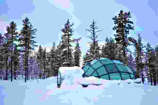 Glass igloos in Lapland (Shutterstock)