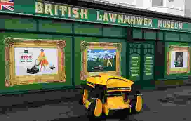 Ransome Spyder lawnmower (British Lawnmower Museum)