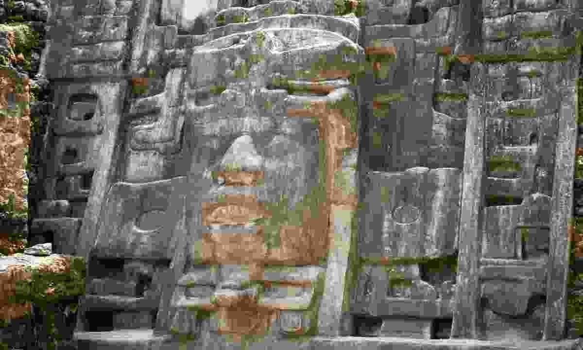 Mask Temple at Lamanai (Simon Chubb)